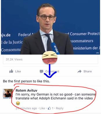 rotem aitu: can somone translate what adolph eichmann said in this video